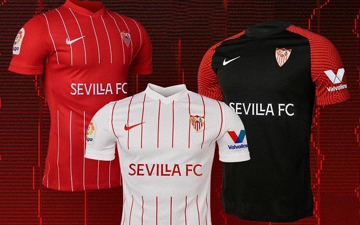 Sevilla Fc 2021 22 Nike Home Away And Third Kits Football Fashion