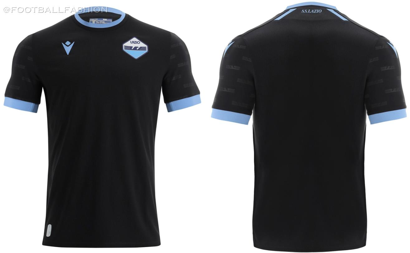 SS Lazio 2021 2022 Macron Black Third Football Kit, 2021-22 Shirt, 2021/22 Soccer Jersey, Maglia 21-22, Gara 21/22