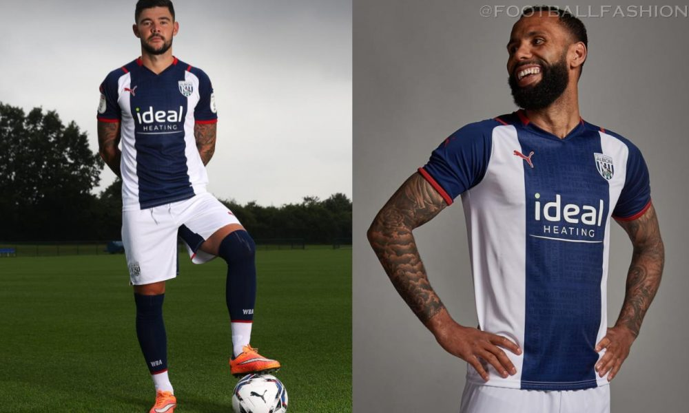West Bromwich Albion 2021/22 PUMA Home Kit - FOOTBALL FASHION